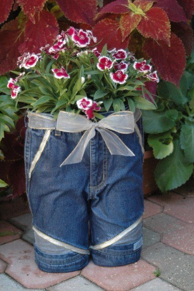Old Jeans Planter
