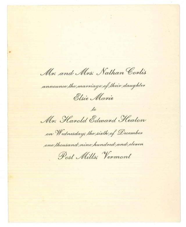My great-grandparents' wedding invitation.