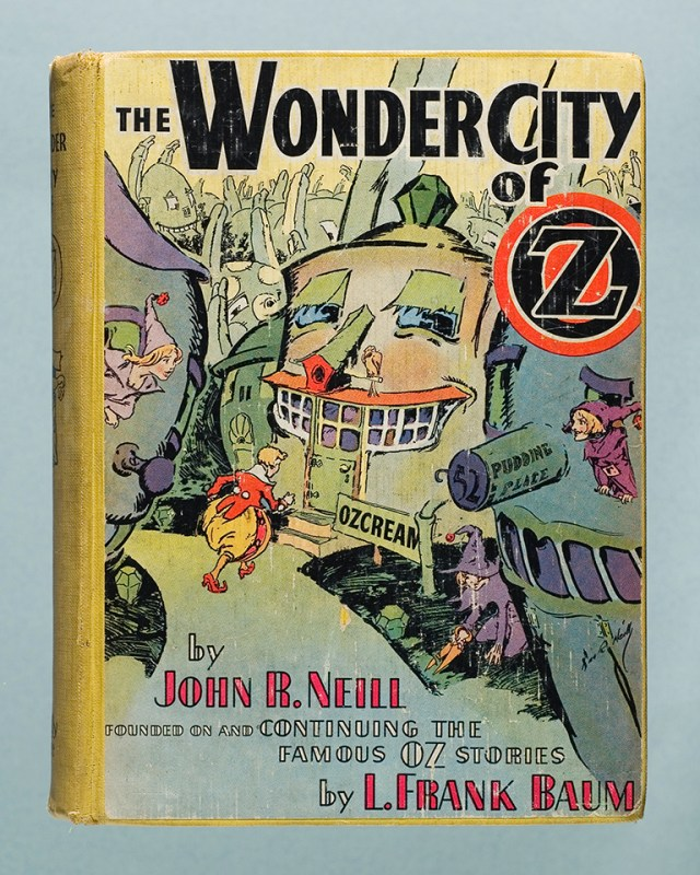 """The munchkin boy Number Nine in his puffy whistlebreeches from """"The Wonder City of Oz,"""" published in 1940."""