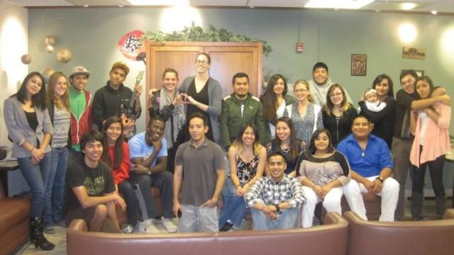 Members of the UW chapter of MEChA.