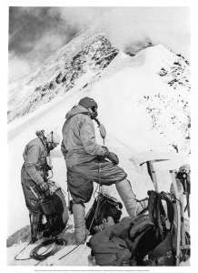 Two members of the 1963 expedition on Mt. Everest.