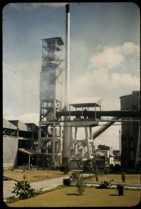 Rhodesia Ferrochrome Plant at Gwelo, Rhodesian Alloys. Image from the Thomas C. Denton papers, American Heritage Center.