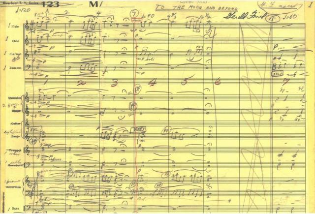 To the Moon and Beyond part of score Box 24