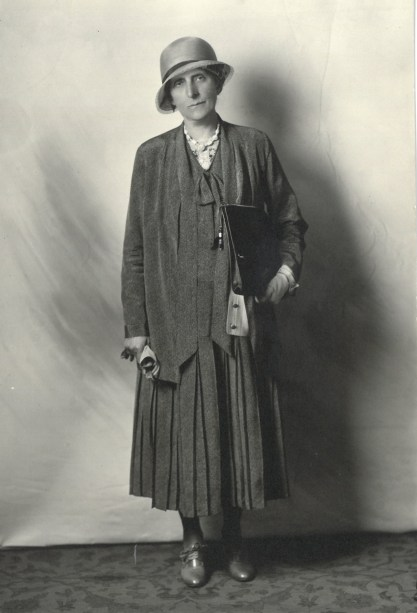 Grace Raymond Hebard posing for a photo circa 1920