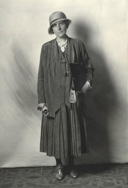 Grace Raymond Hebard posing for a photo circa 1920