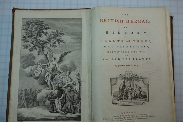 inside look to The British Herbal: an History of Plants and Tree, Natives of Britain, cultivated for Use or raised for Beauty (British Herbal)