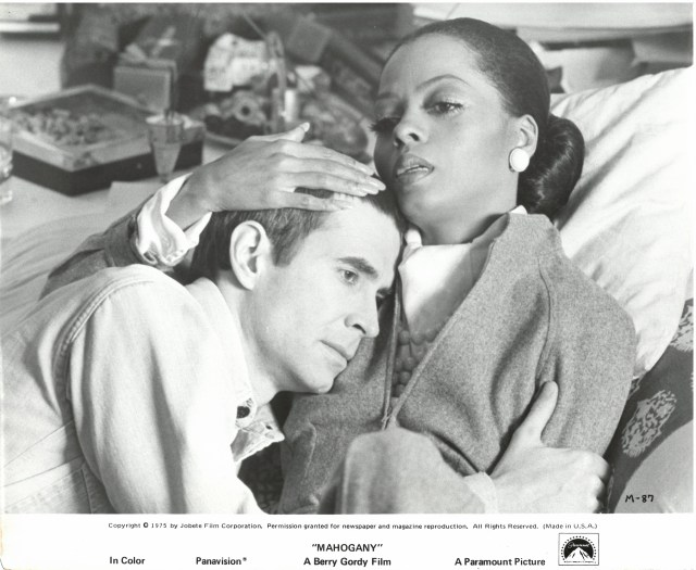Publicity photograph of Diana Ross and Anthony Perkins from the 1975 film Mahogany. June Vanleer Williams papers, American Heritage Center, University of Wyoming.