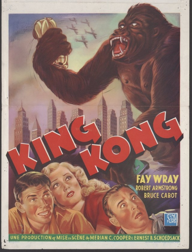 Poster from the film King Kong (1933).