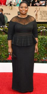 Octavia Spencer arrives at the 23rd annual Screen Actors Guild Awards at the Shrine Auditorium & Expo Hall on Sunday, Jan. 29, 2017, in Los Angeles. (Photo by Jordan Strauss/Invision/AP)