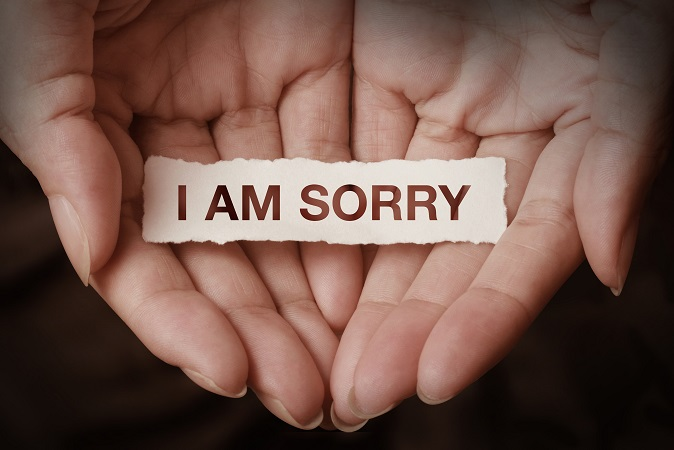 Apologize if necessary