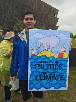 """Change the politics, not the climate"""