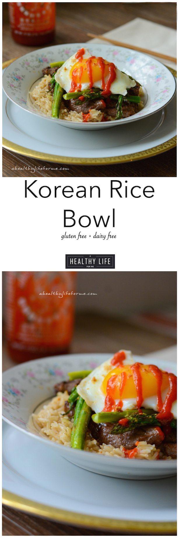 Korean Rice Bowl Recipe Gluten Free Dairy Free | ahealthylifeforme.com