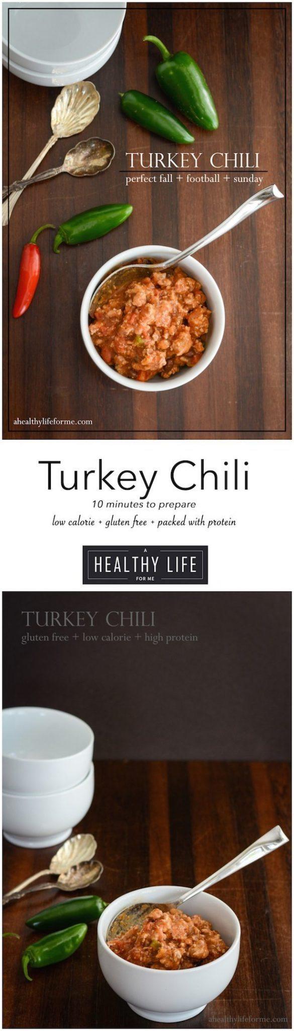 Turkey Chili Recipe Gluten Free | ahealthylifeforme.com