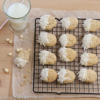 White Chocolate Coconut Cookies
