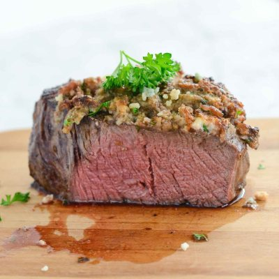 Blue Cheese Crusted Filet {gluten free}