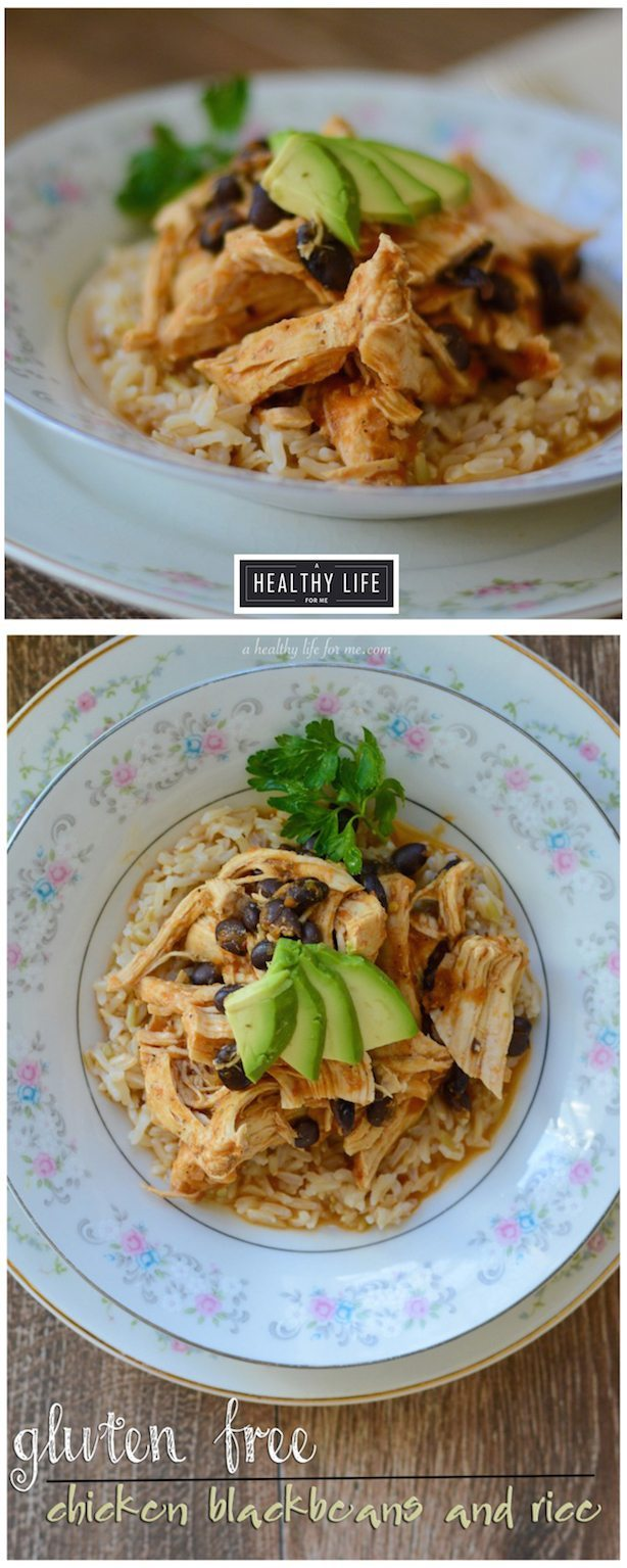 Gluten Free Chicken Blackbean and Rice Recipe | ahealthylifeforme.com