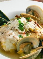 halibut-mussels