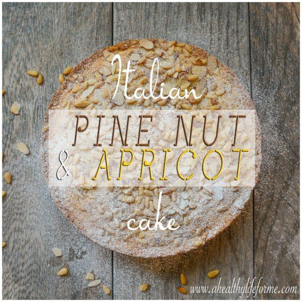 Gluten Free Dairy Free Italian Pine Nut and Apricot Cake