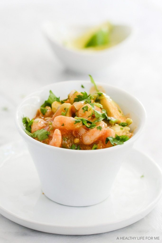 Simple Shrimp Ceviche is a healthy, quick, easy, gluten free dairy free recipe | ahealhtylifeforme.com