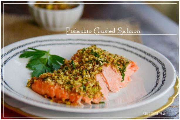 Pistachio Crusted Salmon Healthy Dinner Recipe