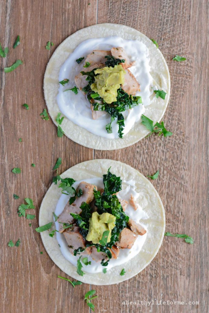 Tequila Lime Fish Tacos with Kale Recipe Gluten Free Healthy | ahealthylifeforme.com