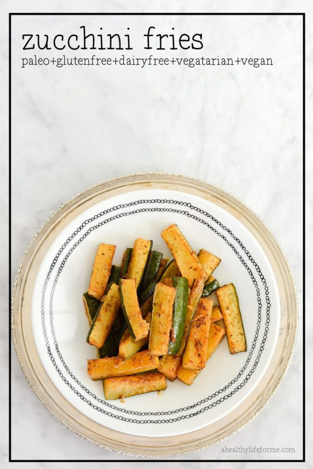 Baked Zucchini Fries Recipe | ahealthylifeforme.com