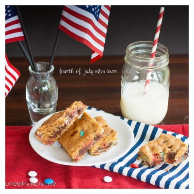 Fourth of July M&M Bars