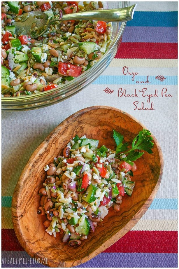 Orzo and Black Eyed Pea Salad Healthy New Years