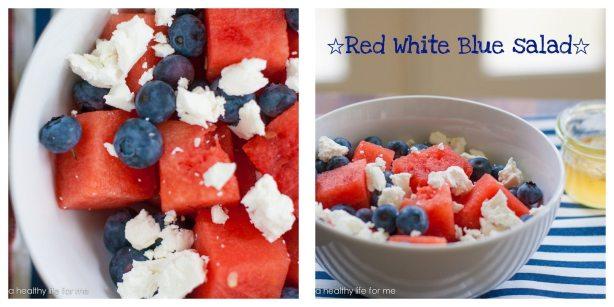 Red White Blue Salad | ahealthylifeforme.com