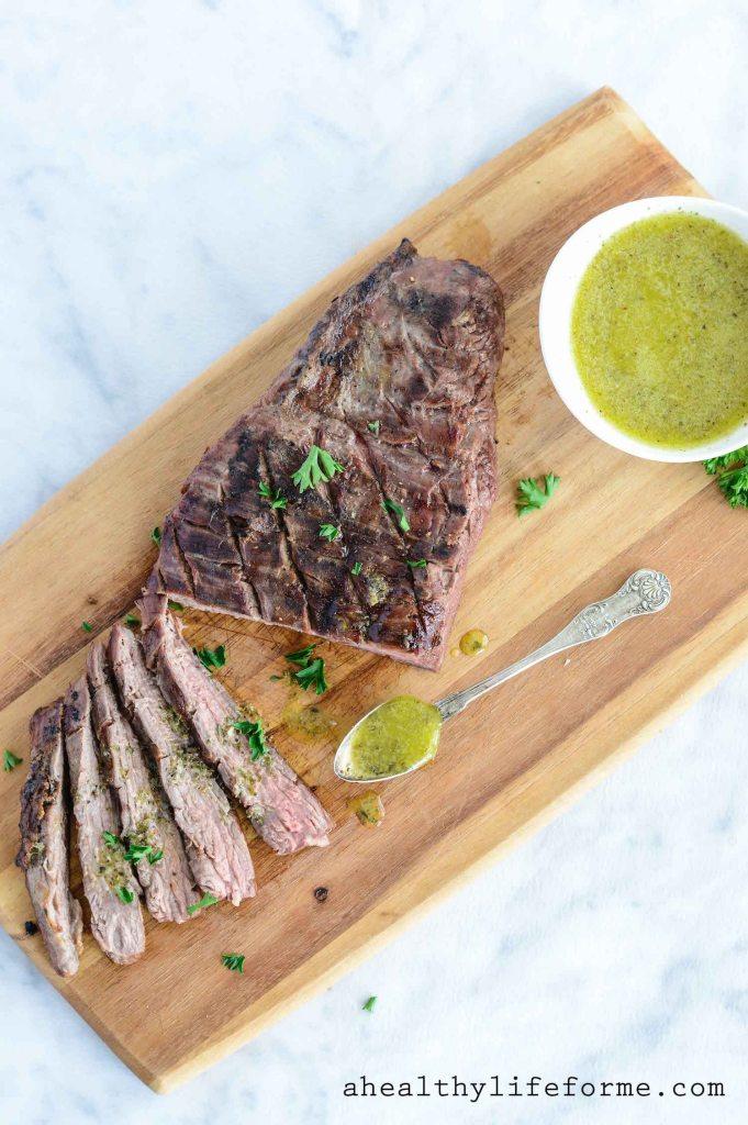 Tri Tip Roast with Sicilian Herb Sauce Paleo Gluten Free Recipe | ahealthylifeforme.com