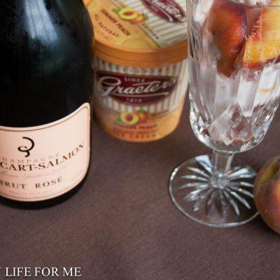 Peach Champagne Floats