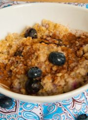 Super Oatmeal with Blueberries @ ahealthylifeforme