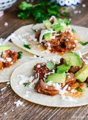 Pulled Pork Taco Recipe | ahealthylifeforme.com