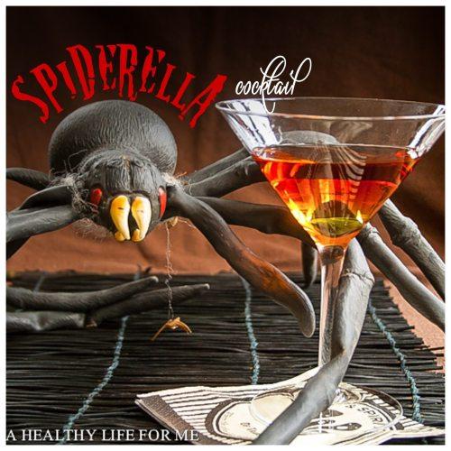 spiderella cocktail recipe for halloween | ahealthylifeforme.com