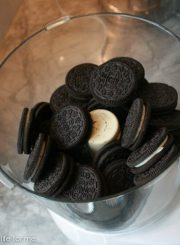 Throw all 32 oreos in food processor