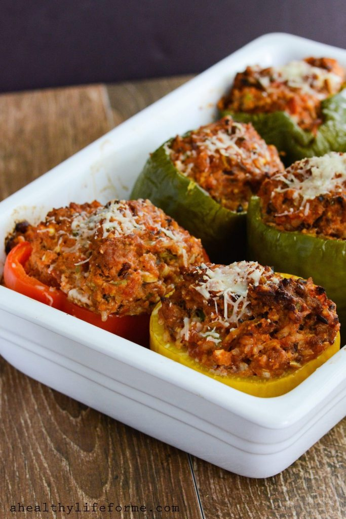 Italian stuffed baked peppers gluten free | ahealthylifeforme.com