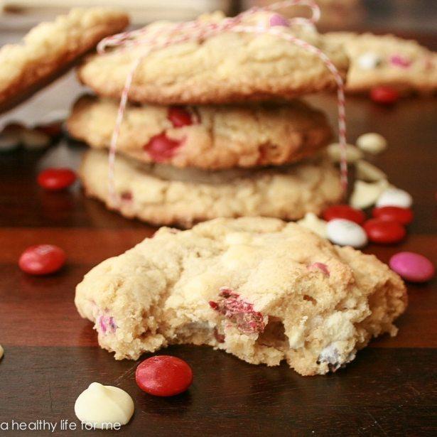 White Chocolate and M&M Cookies-2