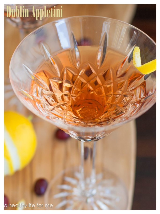 Dublin Appletini Cocktail recipe at www.ahealthylifeforme.com