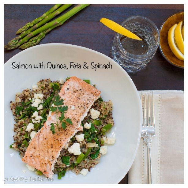Salmon Quinoa Feta & spinach
