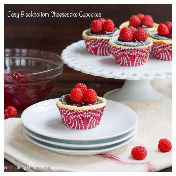 Easy Blackbottom Cheesecake Cupcakes