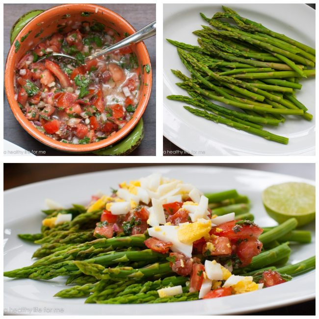 Asparagus and Salsa and Egg | ahealthylifeforme.com