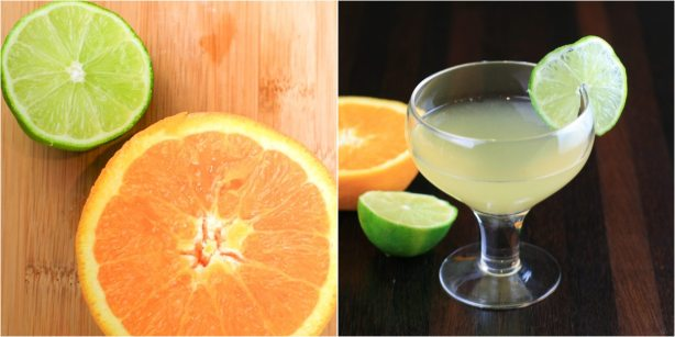 Paloma Cocktail with tequila orange lime soda water
