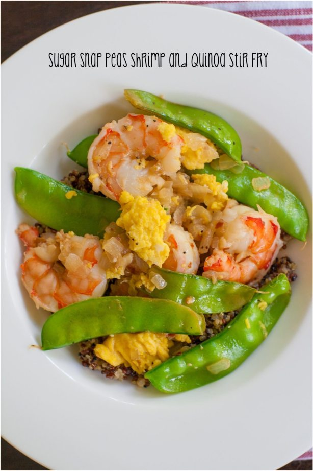 Sugar Snap Pea Shrimp and Quinoa Stir Fry Recipe   ahealthylifeforme.com
