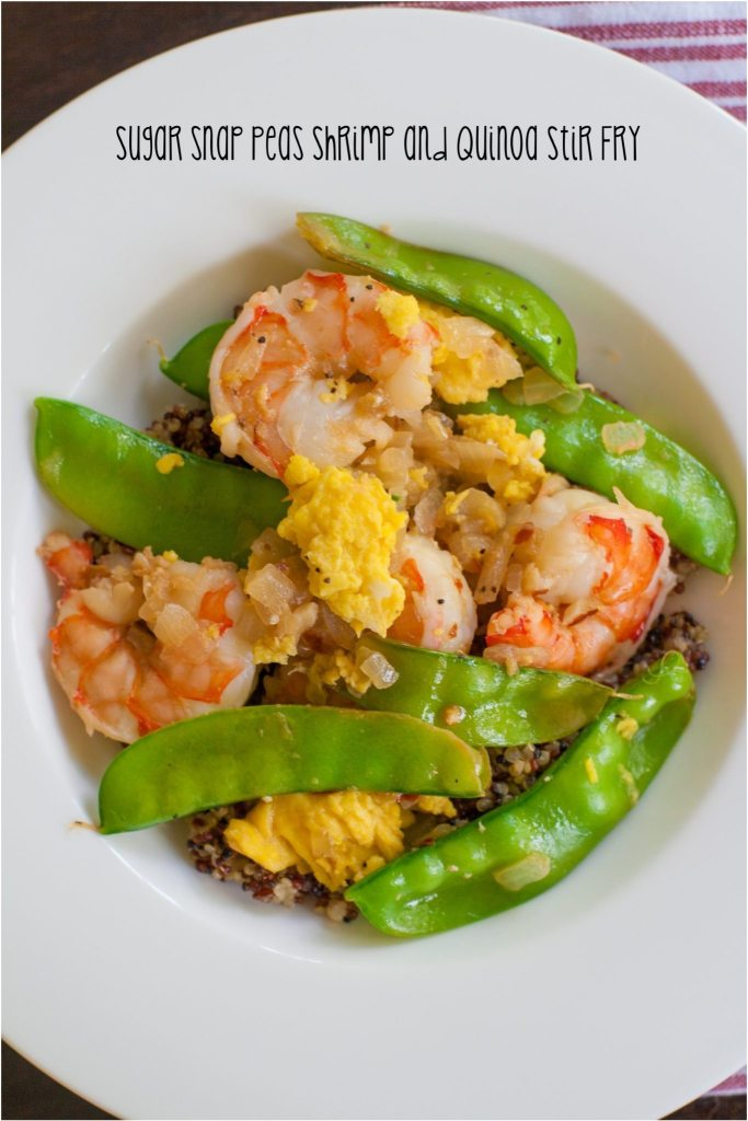 Sugar Snap Pea Shrimp and Quinoa Stir Fry