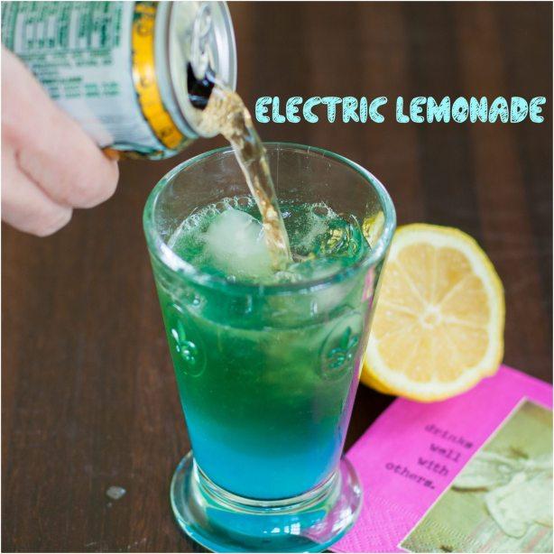 electric lemonade vodka blue curaçao lemon ginger ale