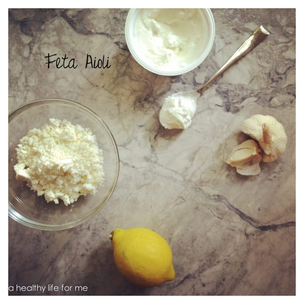 Feta Aioli greek yogurt garlic lemon light mayonnaise