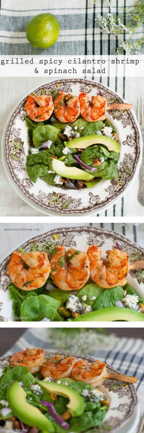 Grilled Spicy Cilantro Shrimp Recipe | ahealthylifeforme.com