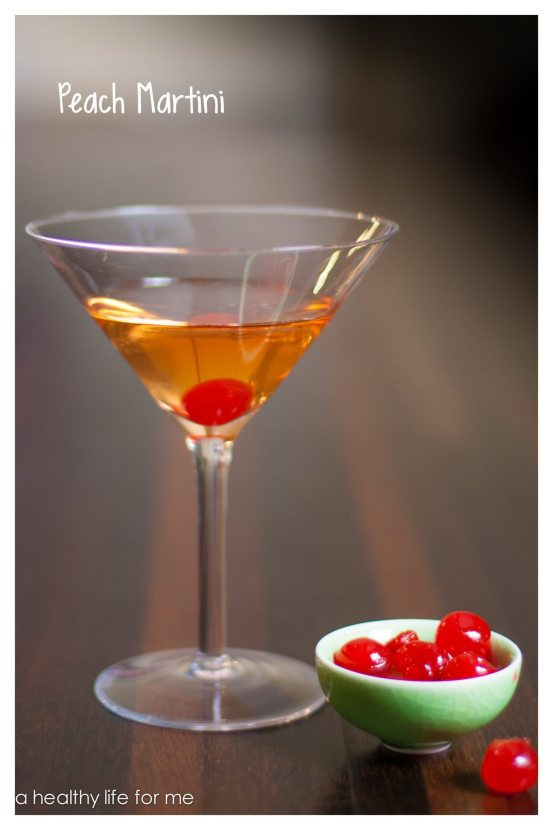 Peach Vodka Chambord Cherries Simple syrup