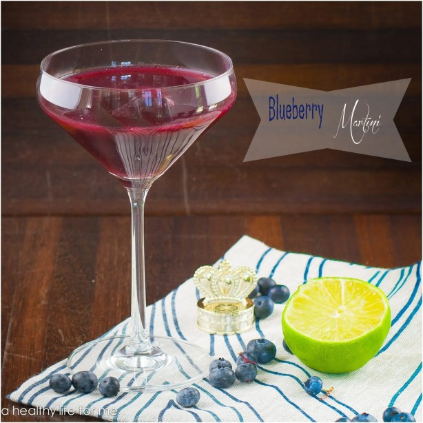 Blueberry Martini made with Fresh Blueberries