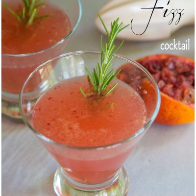 Blood Orange Rosemary Fizz Cocktail